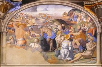 Bronzino, The Israelites crossing of the Red Sea