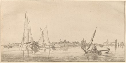 River with Town, 1775.