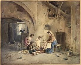 The Bath, 19th century.