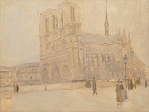 Notre Dame in Winter, n.d.