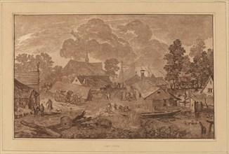 Village with Pond, c. 1782.