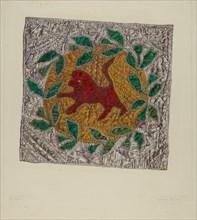 "Quilt Block ""Red Lion"", 1935/1942."