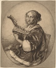 Lady with Double-Headed Lute, 1781.