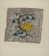 """Quilt Block: """"Constancy"""", 1935/1942."""