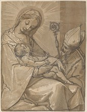 Madonna and Child with a Bishop, 1591.