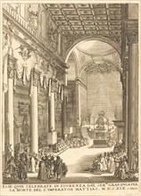 The Catafalque of the Emperor Mathias.
