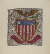 Block from Friendship Quilt, 1935/1942.