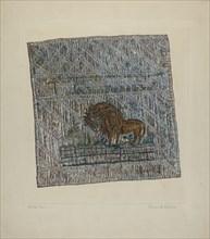 """Quilt Block: """"Audax et Fides"""", 1935/1942."""
