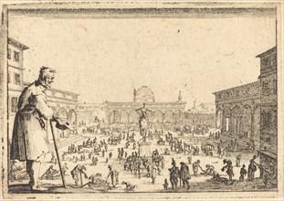 Piazza SS. Annunziata, Florence, c. 1617.