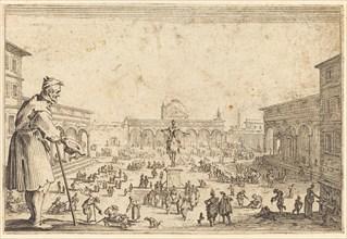 Piazza SS. Annunziata, Florence, c. 1622.
