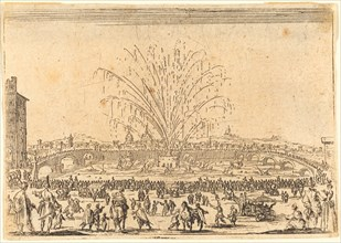 Fireworks on the Arno, Florence, c. 1622.