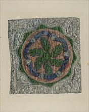 """Quilt Block - """"E. Cooper"""" Design, 1935/1942."""