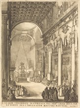 The Catafalque of the Emperor Mathias, 1619.