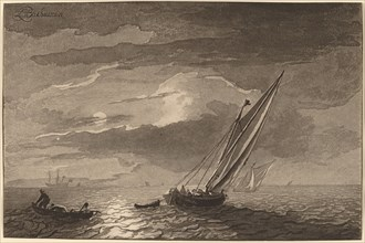 Seascape with Full Moon, 1779, published 1781.
