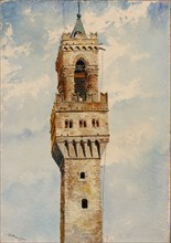 Tower of Palazzo Vecchio, Florence, Italy, 1880.