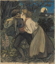 La chienne au loup, 1900. [The bitch and the wolf].