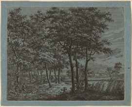 Landscape with a Peasant Carrying Firewood, c. 1800.