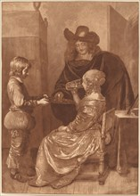 Cavalier and Lady with a Page, 1779, published 1781.