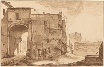 Gateway with Traveler and Mule, 1781, published 1782.