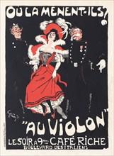 Où la mènent-ils? Au Violon, 1897. Private Collection.