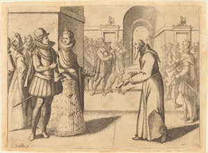 A Capucin bringing thanks of the King of Bavaria, 1612.