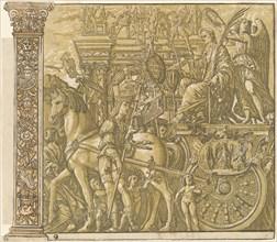 The Triumph of Julius Caesar [no.9 plus 2 columns], 1599.