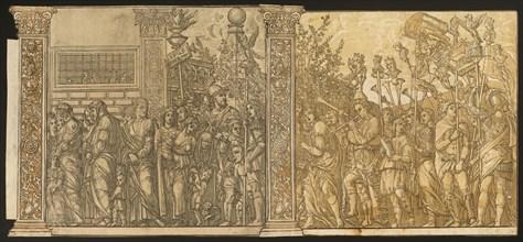 The Triumph of Julius Caesar [no.7 and 8 plus 2 columns], 1599.