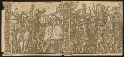 The Triumph of Julius Caesar [no.5 and 6 plus 2 columns], 1599.