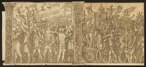 The Triumph of Julius Caesar [no.1 and 2 plus 2 columns], 1599.