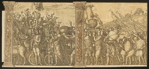 The Triumph of Julius Caesar [no.3 and 4 plus 2 columns], 1599.