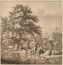 Shepherd and Shepherdess with Their Flock, 1763, published 1765.