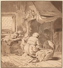 Interior of a Peasant House with Two Women, 1772, published 1787.