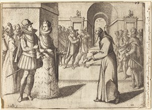 A Capucin bringing the thanks of the King of Bavaria [recto], 1612.