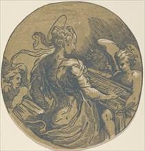 Saint Cecilia, first half 16th century. Attributed to Antonio da Trento.