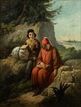Dante in exile, 1854. Found in the collection of Galleria degli Uffizi, Florence.