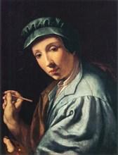 Self-Portrait, ca 1555. Found in the collection of Galleria degli Uffizi, Florence.