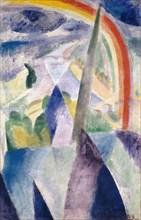 La flèche de Notre-Dame (Vue de Paris, Notre-Dame) , 1909-1914. Private Collection.
