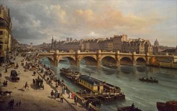 Le Pont-Neuf et la Cité Paris 1832, 1832. Creator: Canella, Giuseppe, the Elder (1788-1847).