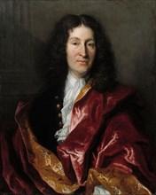 Portrait of Jean de La Fontaine (1621-1695), 1699. Creator: Millot, Henri (?-1756).