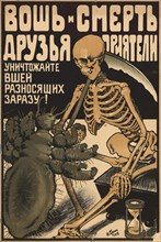 Louse and death are pals-and-buddy, 1919. Creator: Gruen, Oskar Petrovich (1874-1935).