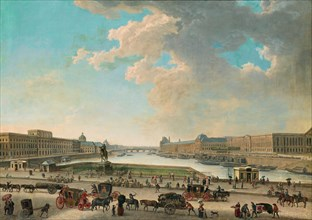 View of Paris from the Place Dauphine, Between 1750 and 1775. Creator: Demachy, Pierre-Antoine (1723-1807).