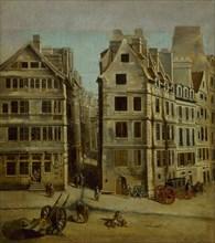 Le cabaret l'Image Notre-Dame, place de Grève, 1751. Creator: Raguenet, Nicolas-Jean-Baptiste (1715-1793).