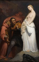 Marguerite tenant son enfant mort, c. 1846. Creator: Scheffer, Ary (1795-1858).