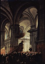 Sermon of a Capuchin in the Church of Saint Roch, 1780. Creator: Demachy, Pierre-Antoine (1723-1807).
