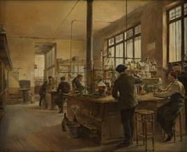 Municipal Chemistry Laboratory, Paris Police Prefecture, 1887. Creator: Gueldry, Ferdinand Joseph (1858-1945).