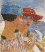 Young girls with a seagull, 1917. Creator: Bonnard, Pierre (1867-1947).