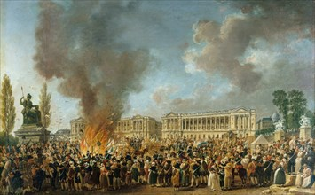 The Festival of Unity and Indivisibility on August 10, 1793, 1793. Creator: Demachy, Pierre-Antoine (1723-1807).