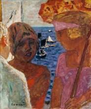 Conversation à Arcachon, 1926-1930. Creator: Bonnard, Pierre (1867-1947).