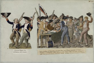 The departure of the volunteers for the revolutionary armies, c. 1793. Creator: Lesueur, Jean-Baptiste (1749-1826).