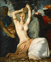 The Toilette of Esther (Esther Preparing to be Presented to King Ahasuerus), 1841. Creator: Chassériau, Théodore (1819-1856).